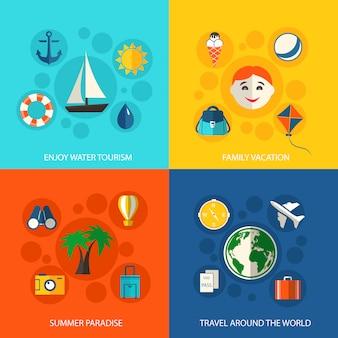 夏の旅行休暇の概念