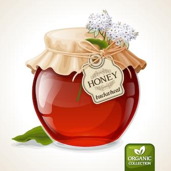 そば蜂蜜瓶
