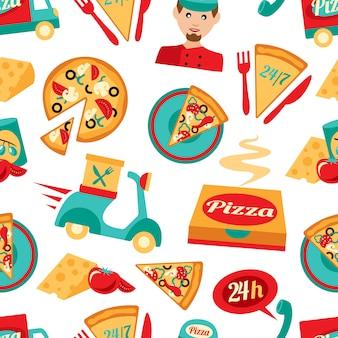ピザのシームレスパターン