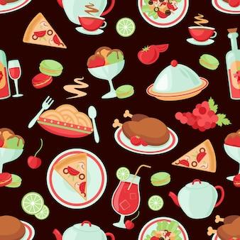 レストランのシームレスパターン