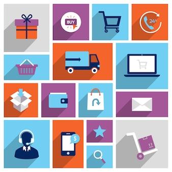Шоппинг иконки электронной коммерции