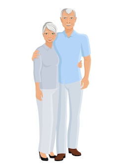年配のカップルの完全な長さ
