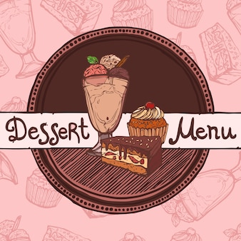 Шаблон меню ресторана эскиз