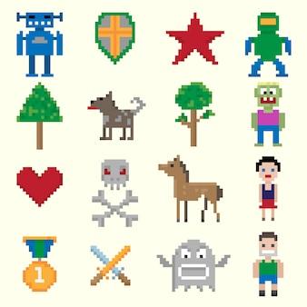 Игровые пиксельные персонажи