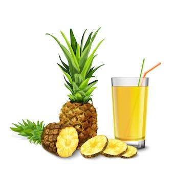 パイナップルジュースグラス