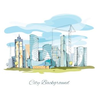 Эскиз городской фон