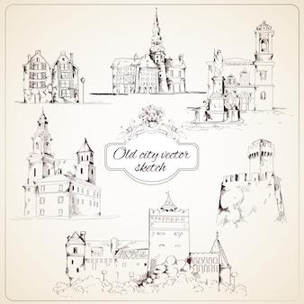 Эскиз старого города