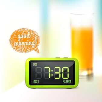 デジタル目覚まし時計