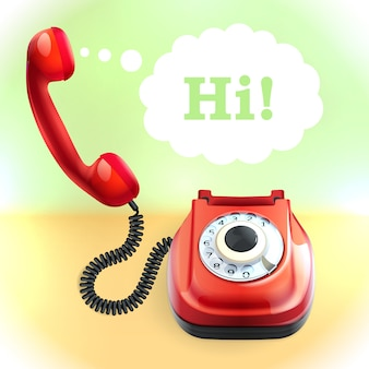 レトロスタイルの電話