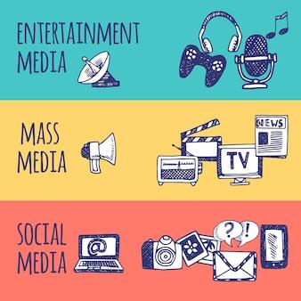 Набор медиа-баннеров