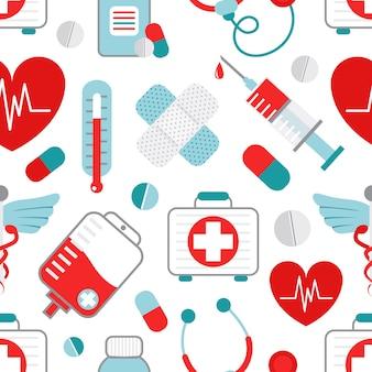 Медицина бесшовный фон