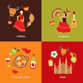 Набор составных элементов испании
