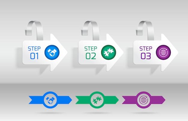 Белая стрелка реклама продажи воблер набор векторные иллюстрации