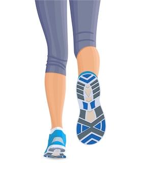 ランニングの女性の足