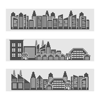 都市の景観バナー
