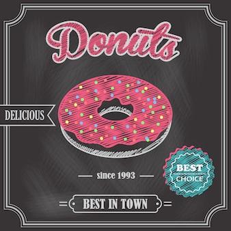 Пончик ретро постер