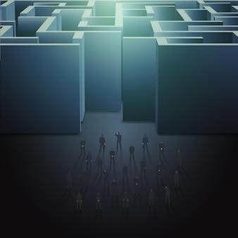 Лабиринт бизнес-концепция