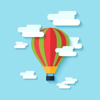 熱気球のアイコン
