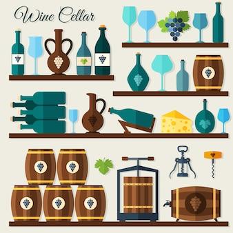 ワインセラーの要素