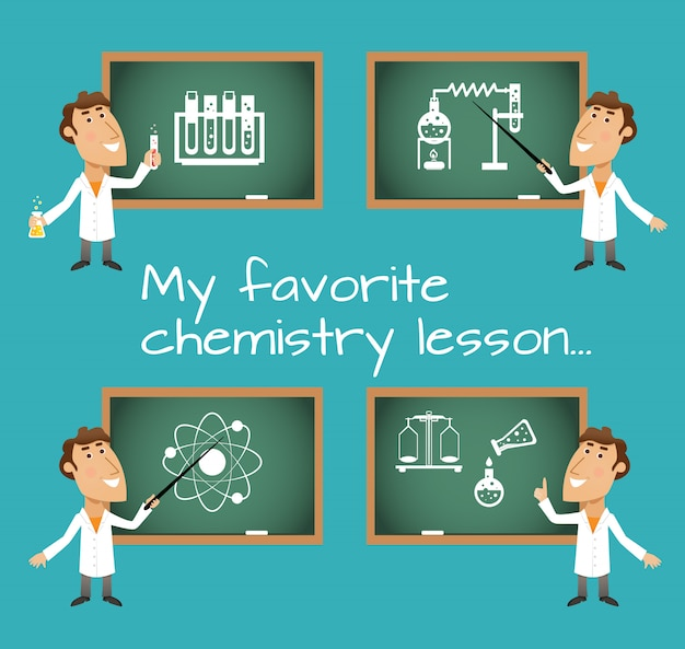 化学レッスン黒板