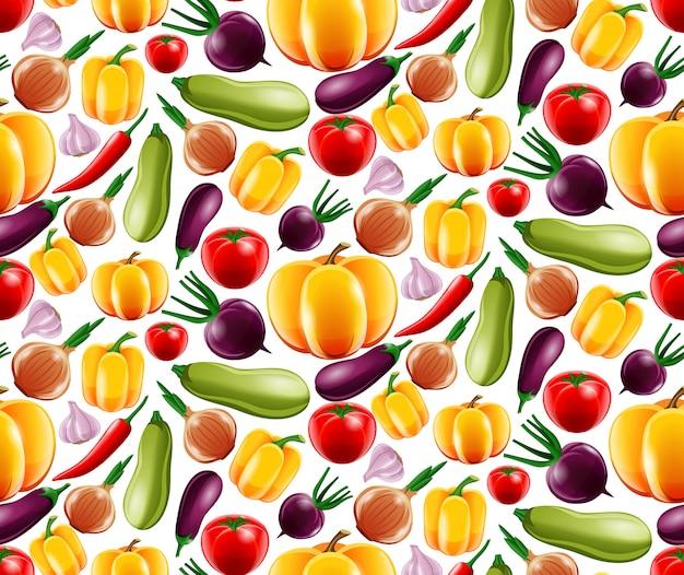 野菜のシームレスパターン