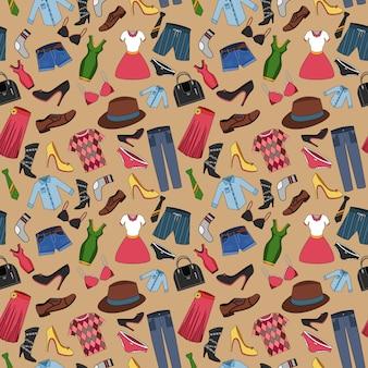 服組成のシームレスパターン