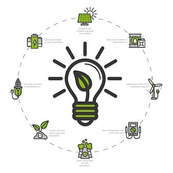 Иллюстрация зеленой энергии
