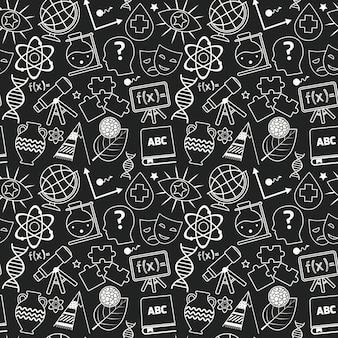 教育のシームレスパターン黒板