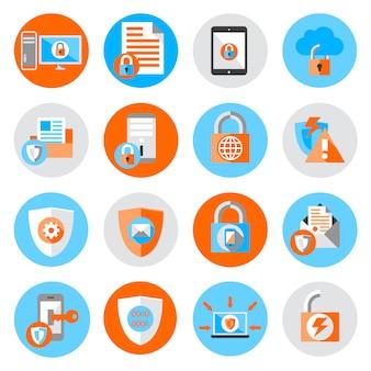 Значки безопасности защиты данных