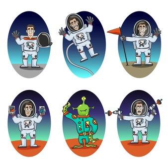 Набор эмоций астронавта