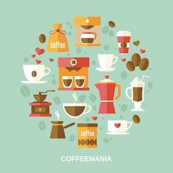 コーヒー要素構成円