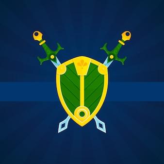 Щит и мечи напечатать плакат