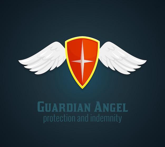 盾と翼のアイコン