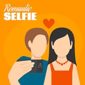 Романтическая селфи плакат
