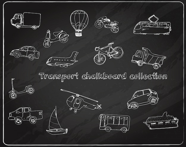 Транспортный рисунок набор доске