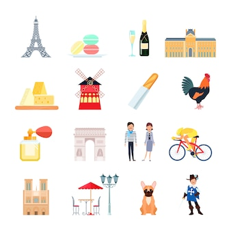 Набор элементов франции