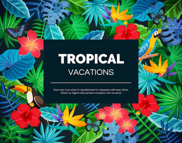 Тропический экзотический фон