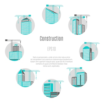 Иллюстрация концепции строительства