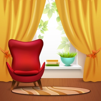 Интерьер комнаты иллюстрация