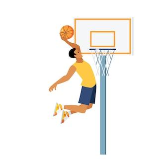 バスケットボールジャンプイラスト