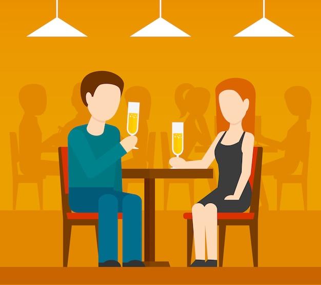 レストランでのデート