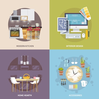 キッチン家具セット