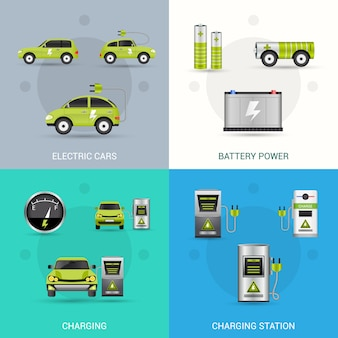 Набор электромобилей