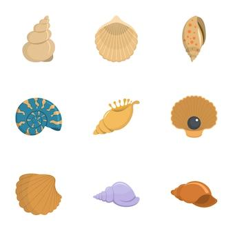 巻き貝のアイコンを設定、漫画のスタイル