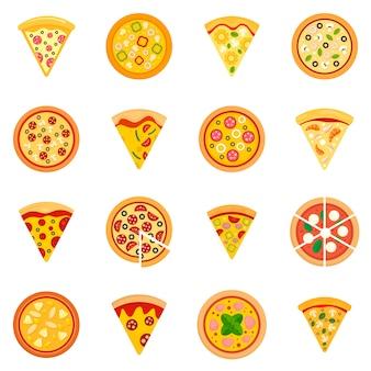 Набор иконок пиццы