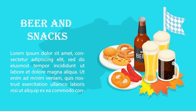 Октябрьский праздник пива закуска баннер