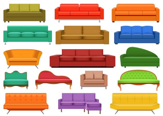 Диван кресло комната набор диван макет