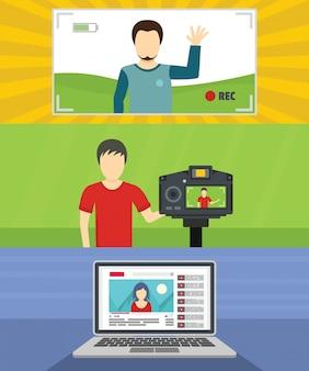 ビデオブログチャンネルの背景
