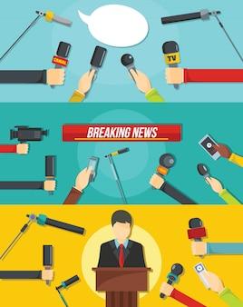 Журналистский новостной фон
