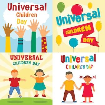 普遍的な子供たちの日の背景